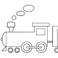 comment dessiner un train