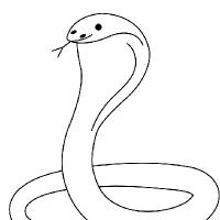 Coloriage cobra