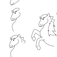 Dessin poney