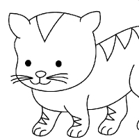 Coloriage chaton