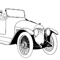Coloriage vieille voiture