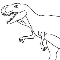 Coloriage tyranosaure