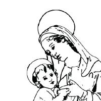 Coloriage sainte-vierge