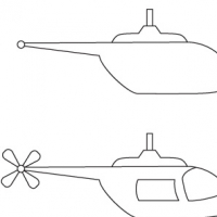 Dessin hélicoptère