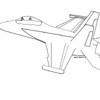 Coloriage avion F18