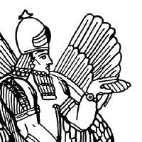 Coloriage dieu-assyrien