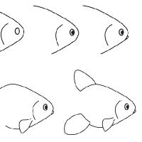 Dessin poisson rouge