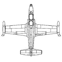 Coloriage avion vu de dessus