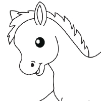 Coloriage petit poney