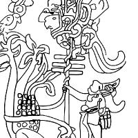 Coloriage dieux aztèques