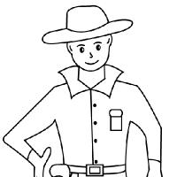 Coloriage cowboy