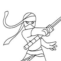 Coloriage ninja