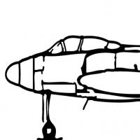 Coloriage avion de combat